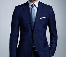 紺色スーツブルーワイシャツ