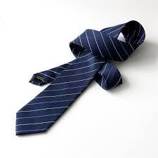 紺色ストライプネクタイ